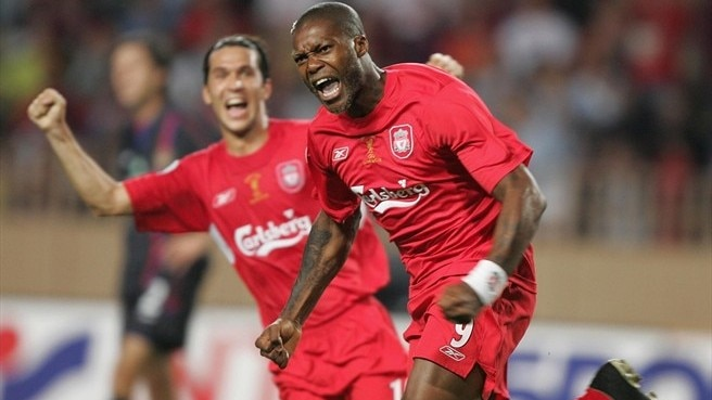 2005: Cissé secures hat-trick for Liverpool