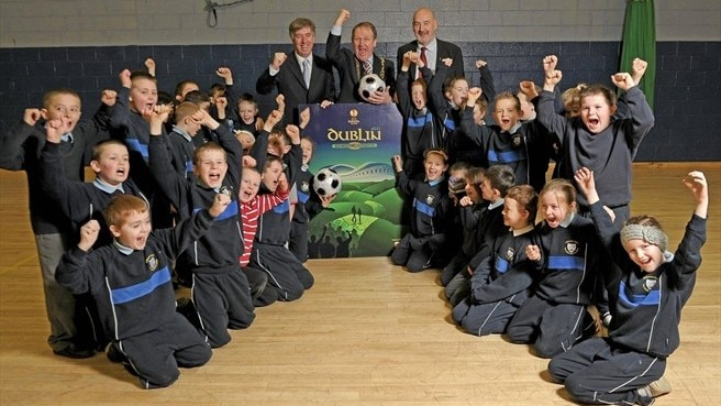 Local children compete along road to Dublin final