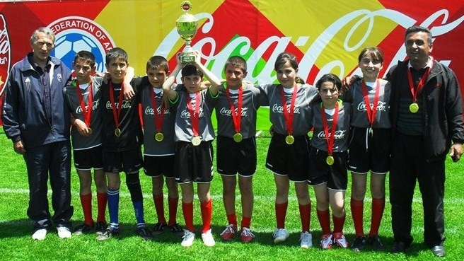 Schools football tournament a success in Armenia