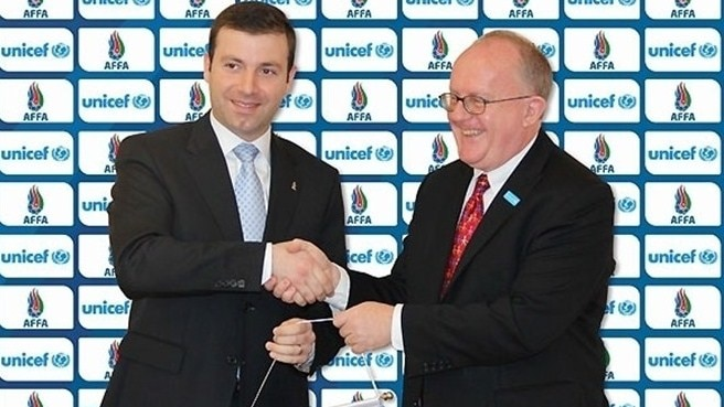 UNICEF helps AFFA to promote sport in Azerbaijan