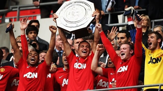 United comeback sinks City in Community Shield