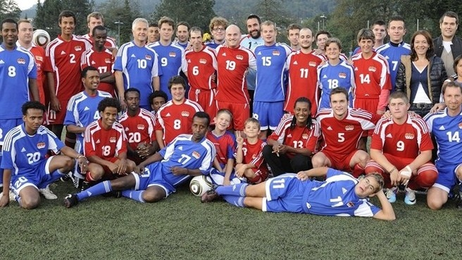 Liechtenstein celebrates match for peace