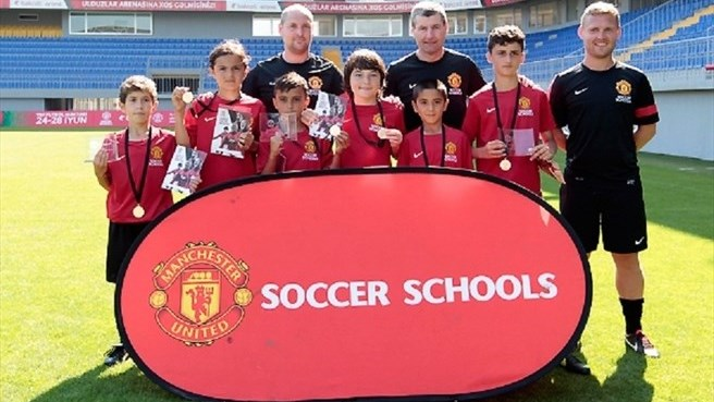 Azerbaijani children enjoy soccer schools