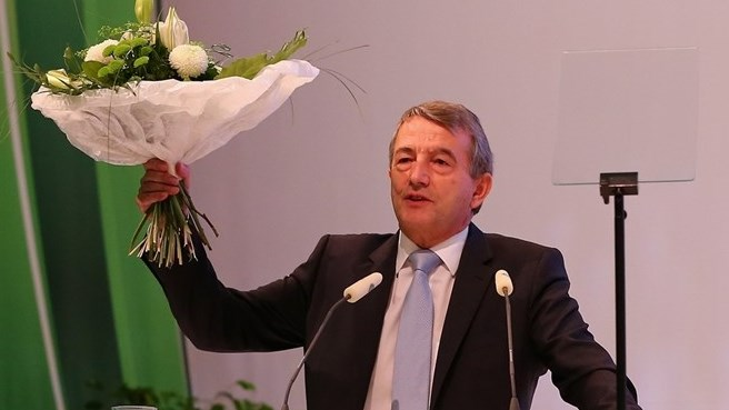 Niersbach celebrates DFB re-election
