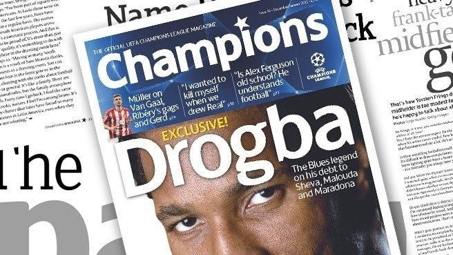 Champions gets to grips with Drogba