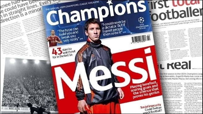 Champions magazine cracks the Messi enigma