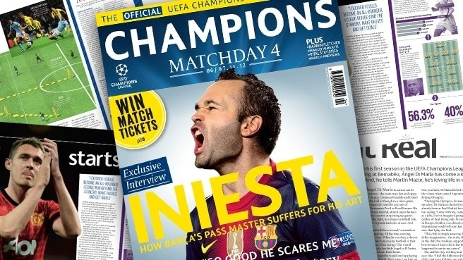 Iniesta speaks to Champions Matchday