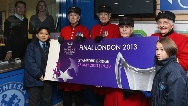 Faye White & Graeme Le Saux (UEFA Women's Champions League final ticket launch)