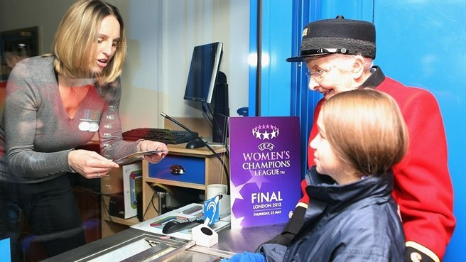 Faye White (UEFA Women's Champions League final ticket launch)