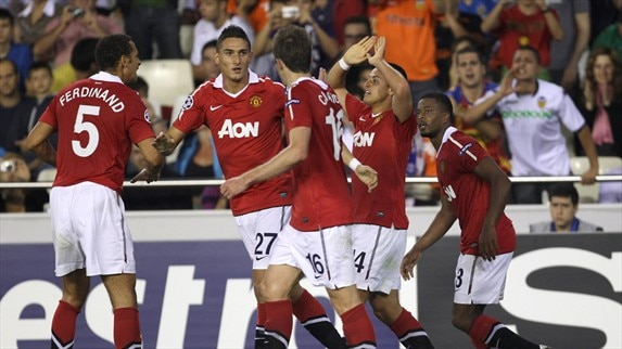 Valencia - Man Utd reaction (Fletcher, Hernández & Albelda)