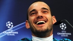 Press conference: Wesley Sneijder (Internazionale)