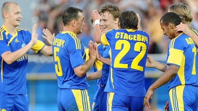 BATE celebrating sixth title in Belarus