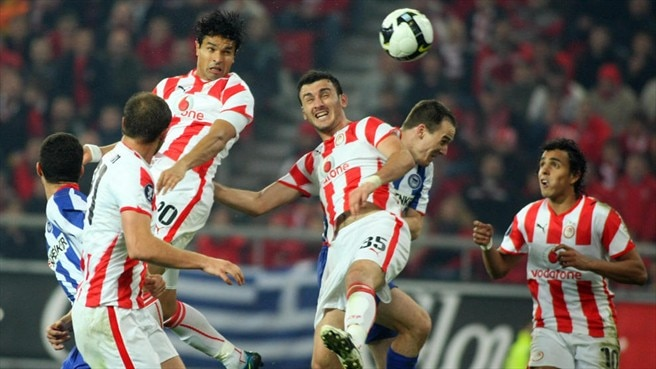 Olympiacos hit top gear to sink Hertha