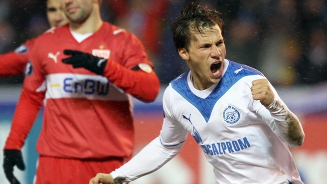 Zenit shake off the cobwebs to beat Stuttgart