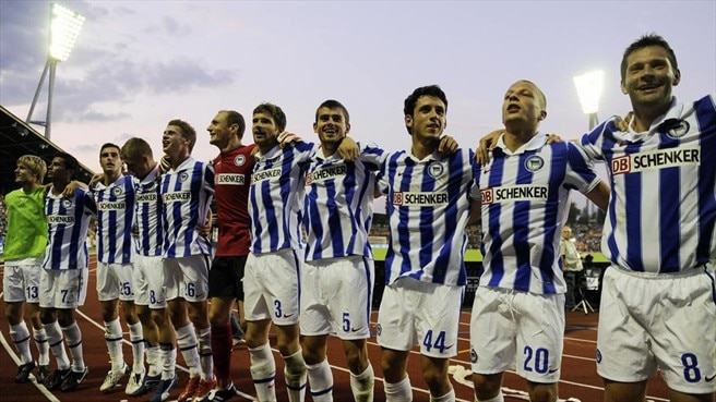 Hertha welcome Latvian history-makers