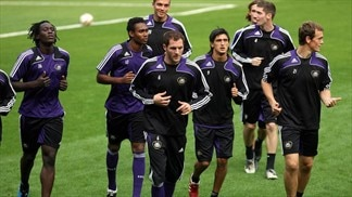 Anderlecht in training