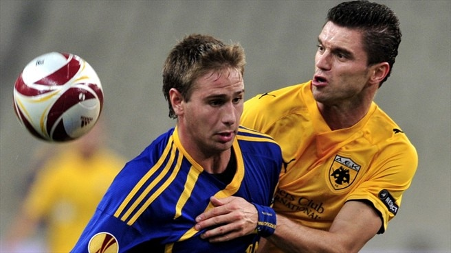 Ten-man BATE hold AEK in Athens