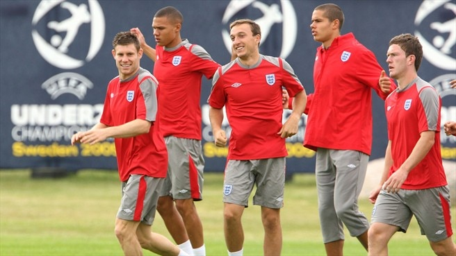Jack Rodwell & Craig Gardner & Mark Noble & James Milner (England)
