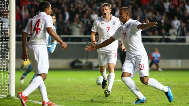 Second-half strikes see England through