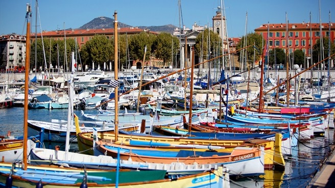 Boats in the port, Nice