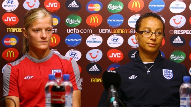 Katie Chapman & Hope Powell (England)