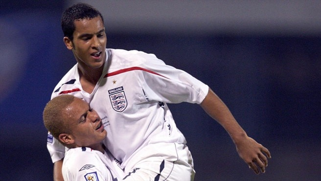 Theo Walcott & Wes Brown (England)