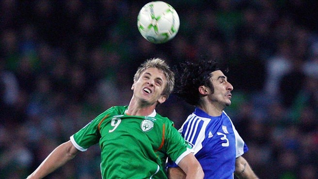Kevin Doyle (Republic of Ireland) & Elias Charalambous (Cyprus)