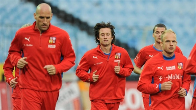 Jan Koller, Tomas Rosicky & David Jarolim (Czech Republic)