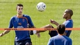 Robin van Persie, Giovanni van Bronckhorst & Nigel de Jong (Royal Netherlands Football Association)