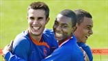Eljero Elia, Gregory Van der Wiel & Robin van Persie (Royal Netherlands Football Association)