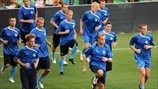 Estonia training session