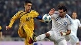 Yevgen Khacheridi (Football Federation of Ukraine) & Georgios Samaras (Hellenic Football Federation)
