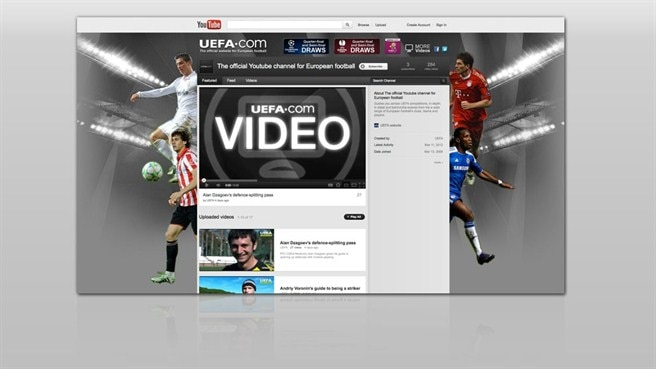 UEFA.com launches YouTube channel