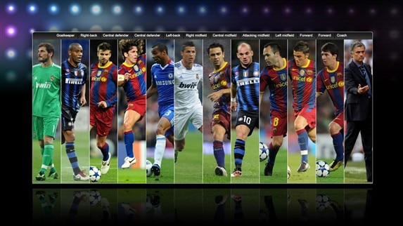 Barça dominate UEFA.com users' Team of the Year