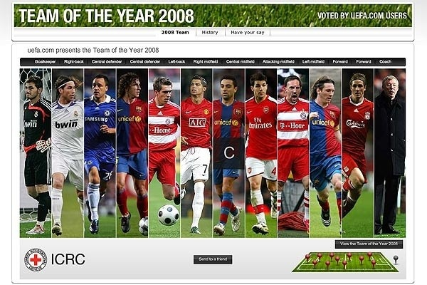 uefa.com users' Team of the Year 2008