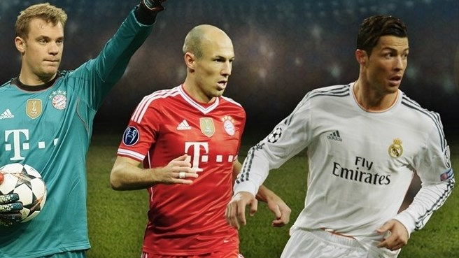 Neuer, Robben and Ronaldo make shortlist for UEFA Best Player in Europe award
