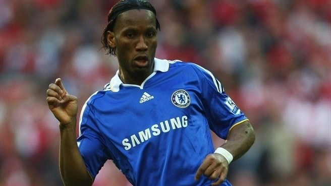didier drogba body. striker Didier Drogba and