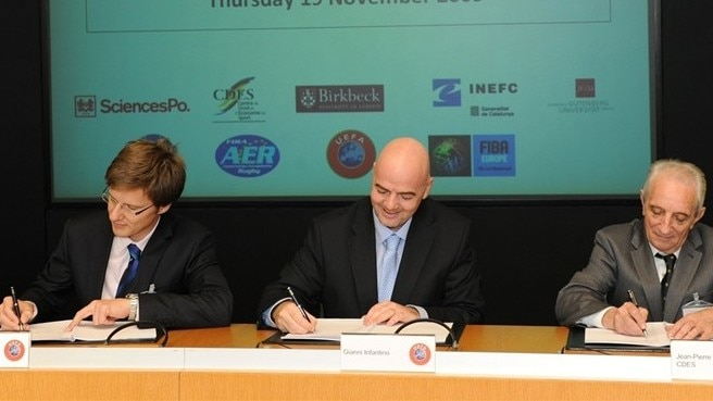 MESGO convention signed at UEFA HQ