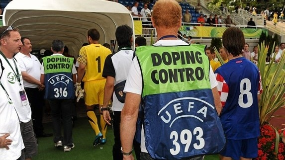 Anti-doping control at UEFA EURO 2008
