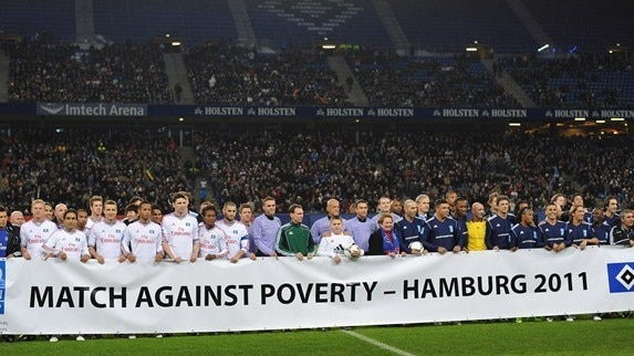 Nine-goal show in Hamburg raises funds and spirits