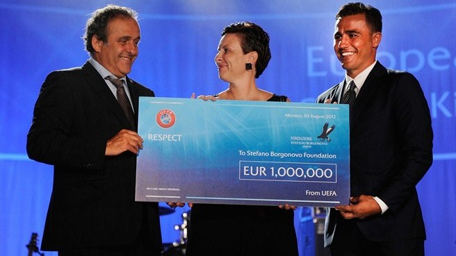 Michel Platini, Chantal Borgonovo & Fabio Cannavaro