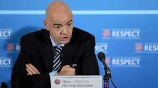 Gianni Infantino (UEFA Executive Committee meeting in London)