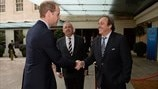 Michel Platini & HRH The Duke of Cambridge (XXXVII Ordinary UEFA Congress in London)