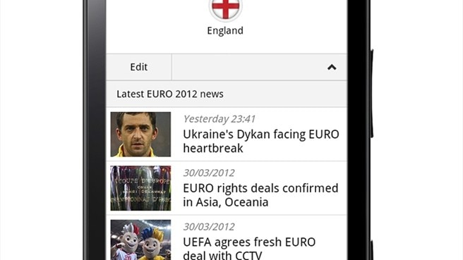 UEFA and Orange launch UEFA EURO 2012 app