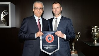 AFC and UEFA Presidents meet in Nyon