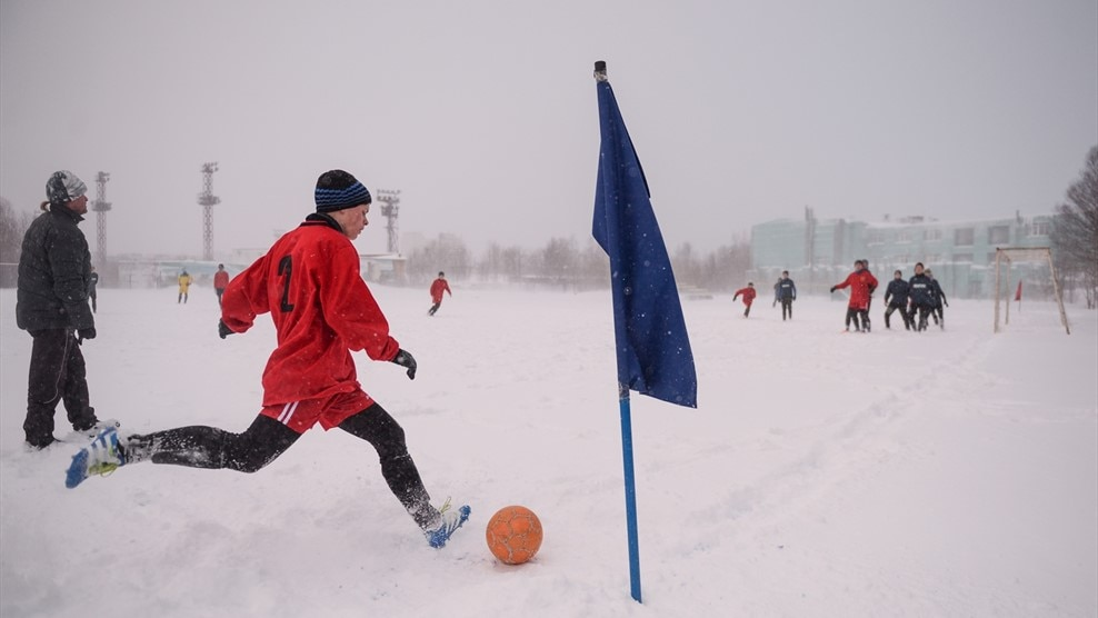 """""""Snow can't stop me from playing football"""" - UEFA.com"""