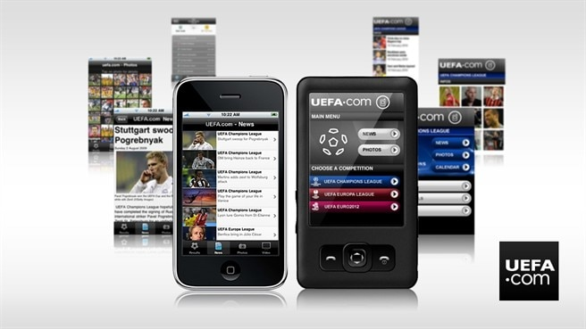UEFA.com mobile keeps fans close to action