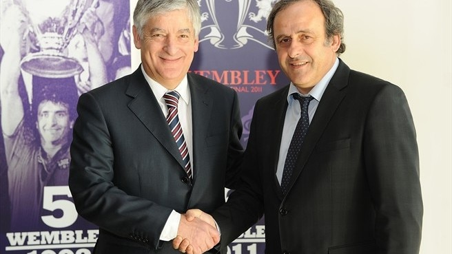 New English FA chairman visits UEFA