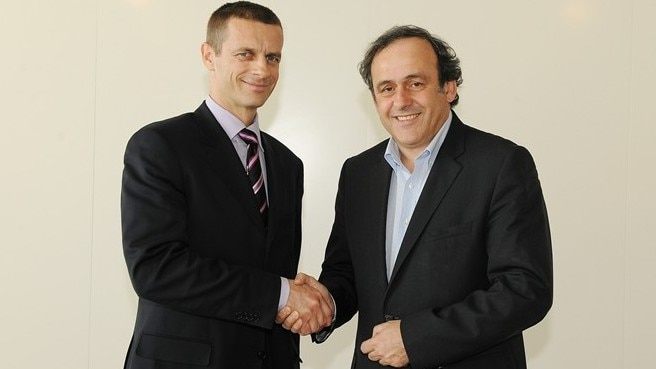 New FA of Slovenia president visits UEFA