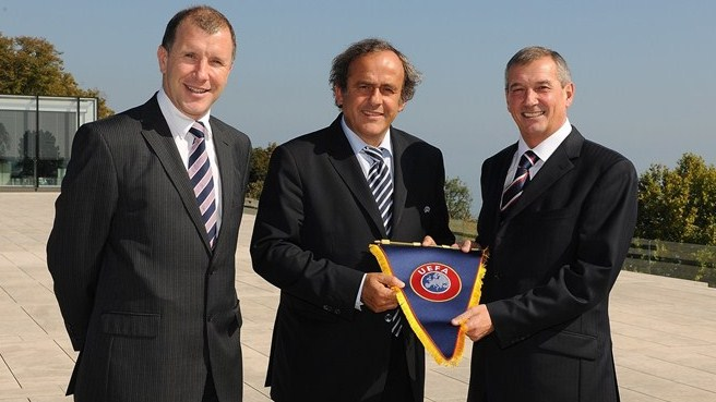 Scottish FA president visits UEFA